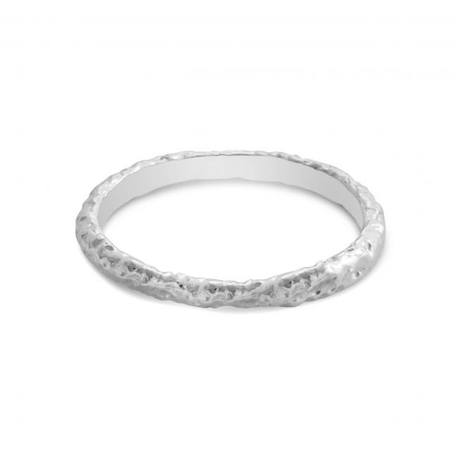 925 sterling silver ring Hammered White Ring