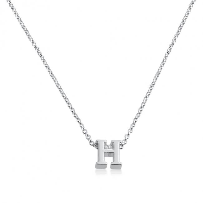 925 sterling silver necklace Initial Letter H Personalized Symbols & Letters Serif Font