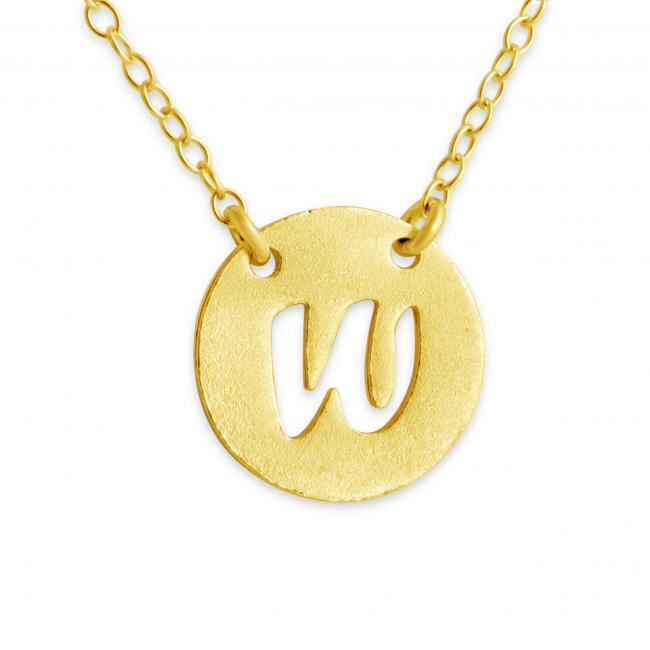 Gold plated necklace W Open Letter