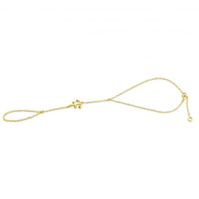 Gold plated anklet Anchor Toe Ring Anklet