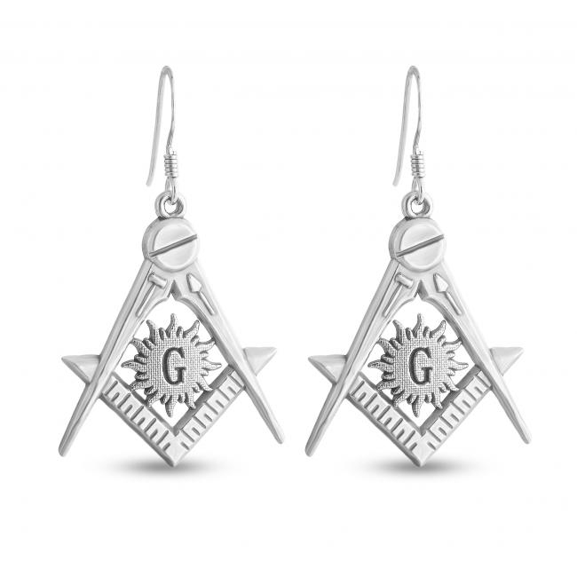 925 sterling silver earrings Freemason
