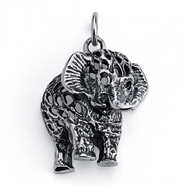 925 sterling silver necklace Filigree Elephant