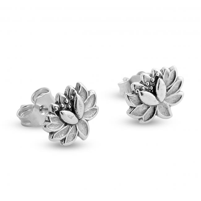 925 sterling silver earrings Lotus Flower Stud