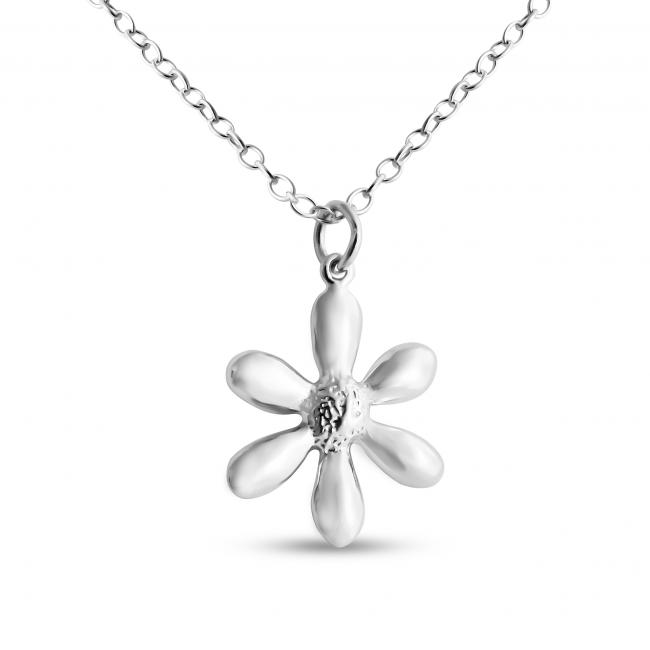925 sterling silver necklace Daisy Flower