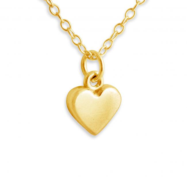 Gold plated necklace Heart Shape 3D Charm