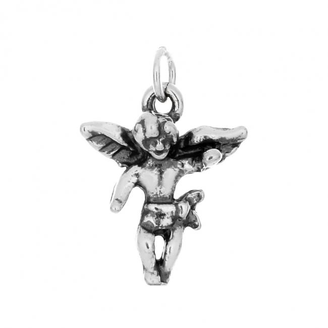 925 sterling silver necklace Cherub Angel Religious