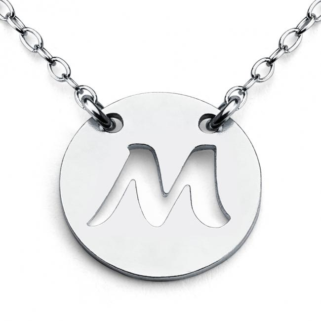 925 sterling silver necklace M Open Letter