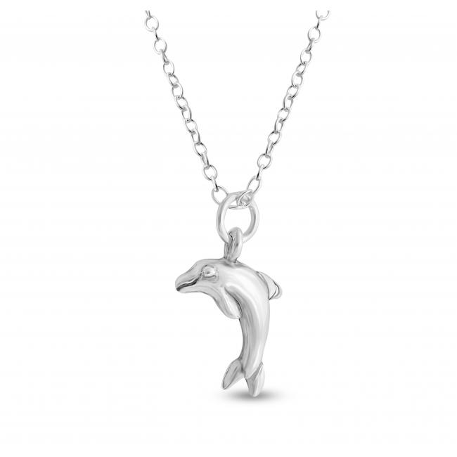 925 sterling silver necklace Cute Tiny Dolphin