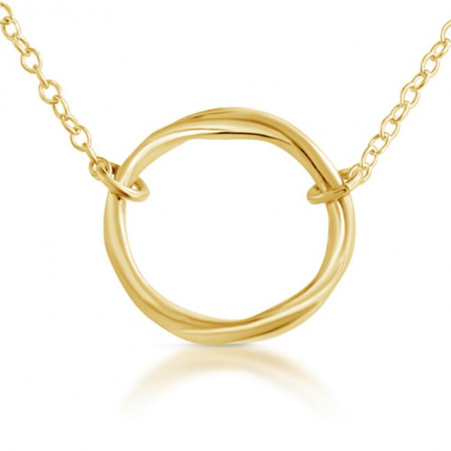 Gold plated necklace Karma Ring Circle of Life