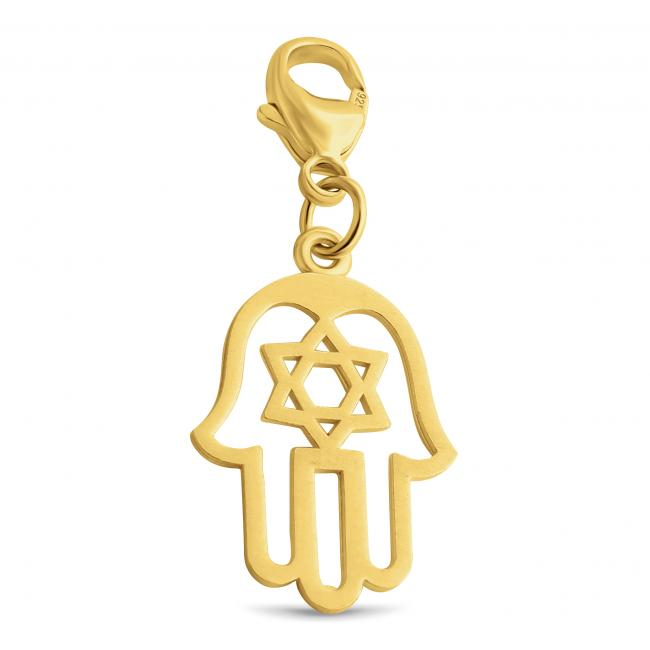 Gold plated necklace Judaica Hamsa