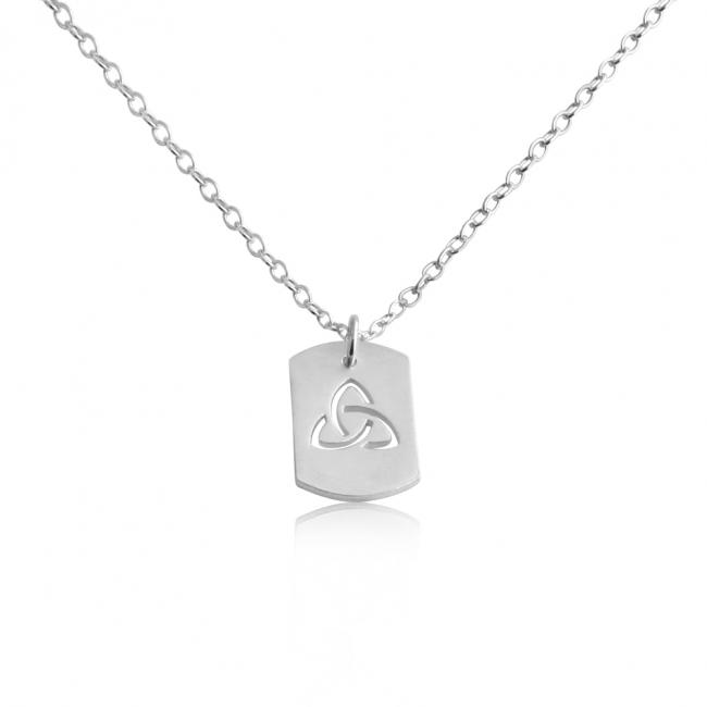 925 sterling silver necklace 3-Sided Infinity Dog Tag