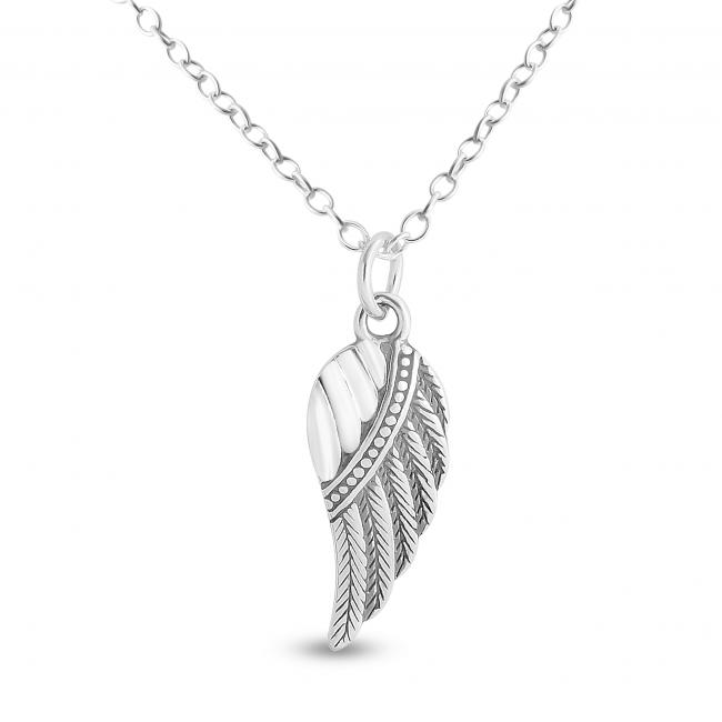 925 sterling silver necklace Bird Wing
