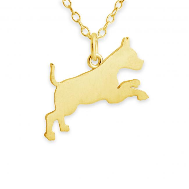 Gold plated necklace Boxer (Silhouette)