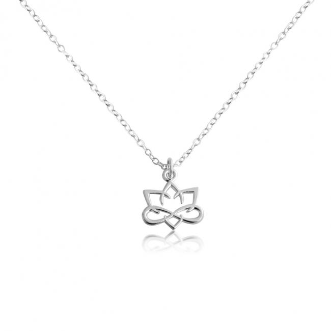 925 sterling silver necklace Small Lotus Flower