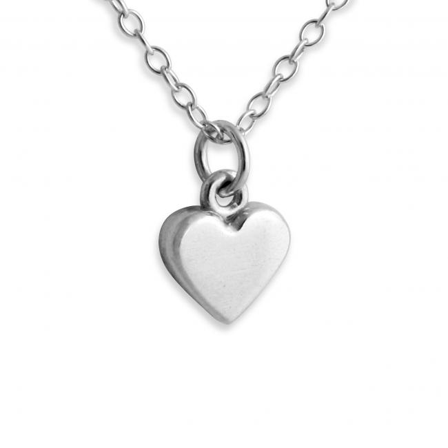 925 sterling silver necklace Heart Shape 3D Charm