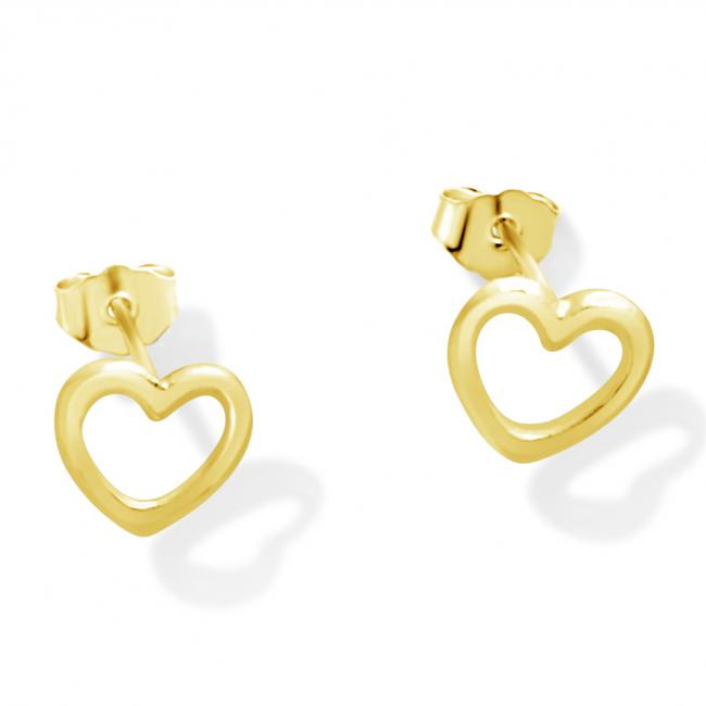 Gold plated earrings Heart Outline