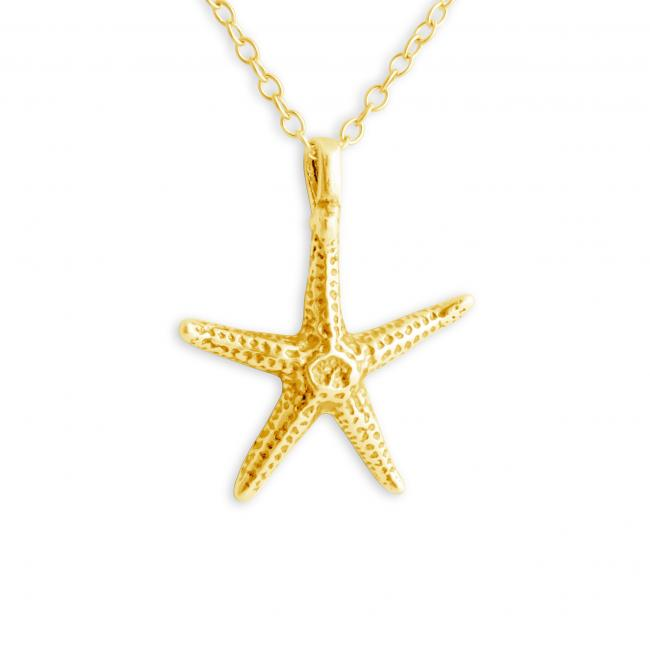 Gold plated necklace Starfish