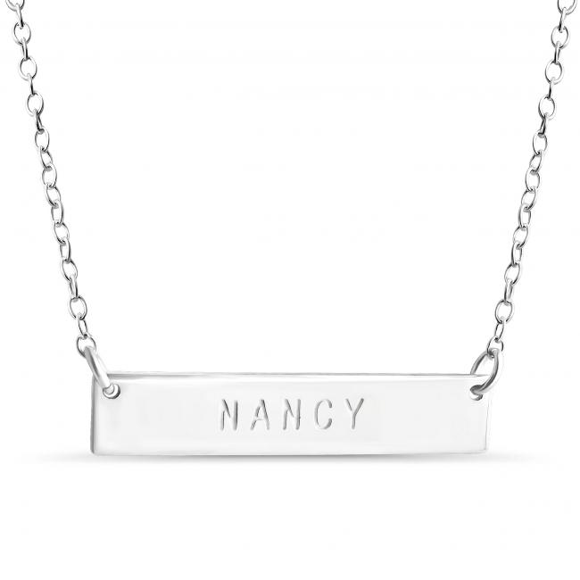 925 sterling silver necklace Name Bar Nancy