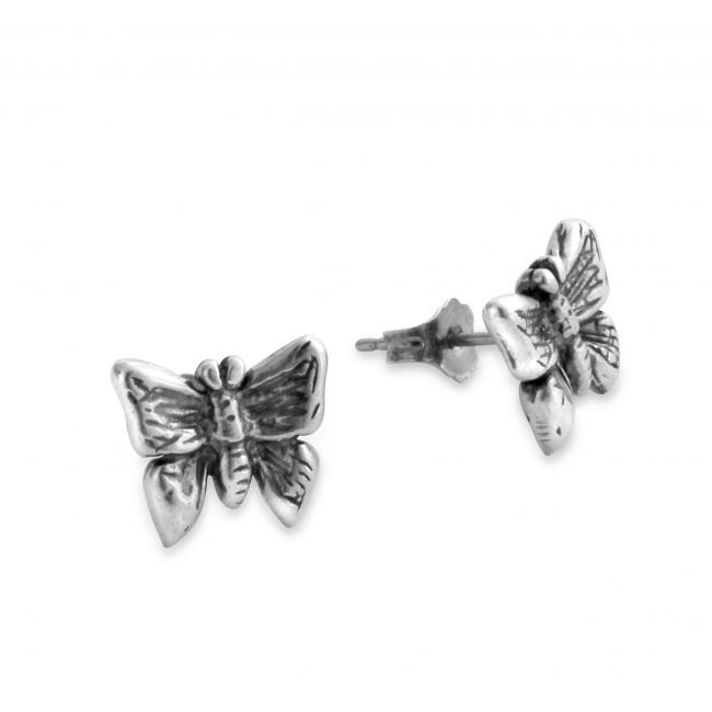 925 sterling silver earrings Butterfly