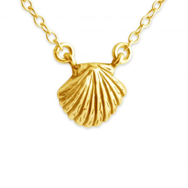 Gold plated necklace Seashell Jump Ring Necklace