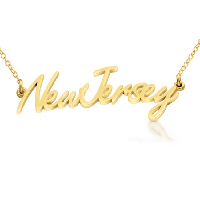 Gold plated necklace New Jersey State