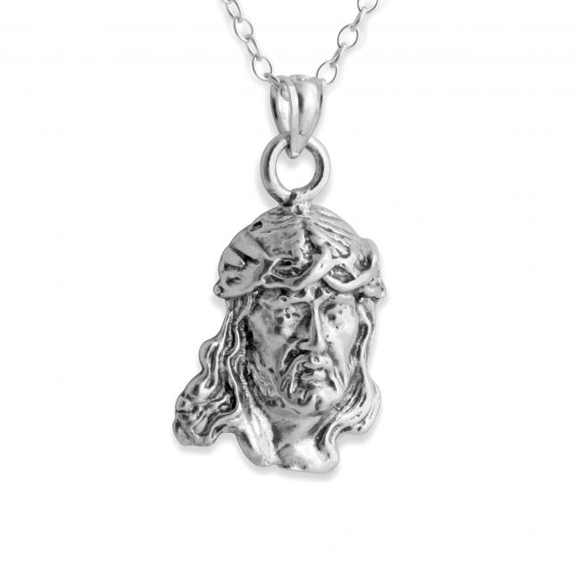 925 sterling silver necklace Jesus Christ w/ Crown of Throwns