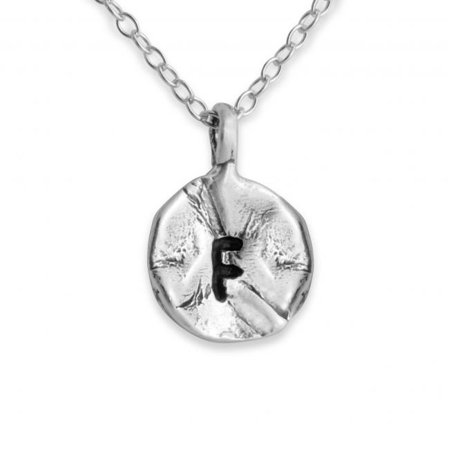 925 sterling silver necklace Letter F Passion Initial