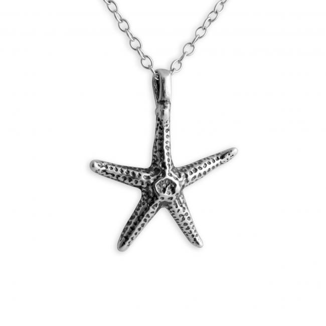 925 sterling silver necklace Starfish