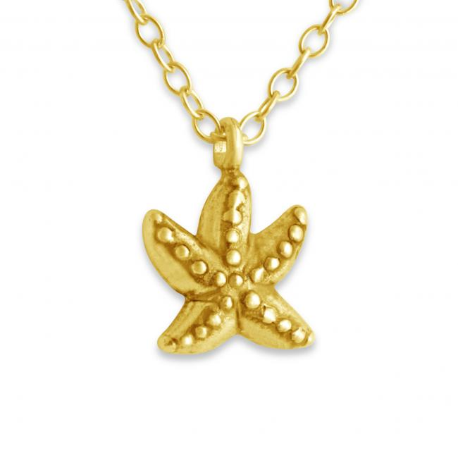 Gold plated necklace Starfish Double Sided Sea Star