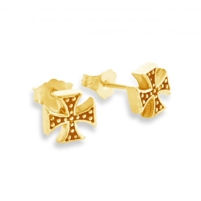 Gold plated earrings Independent Cross