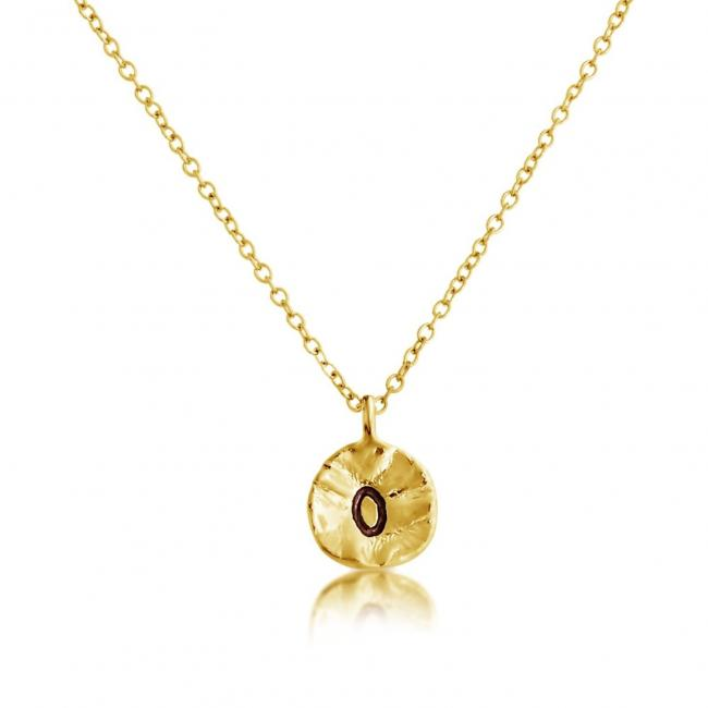 Gold plated necklace Letter O Passion Initial