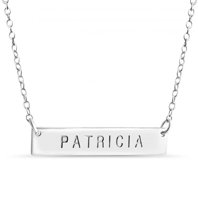 925 sterling silver necklace Name Bar Patricia