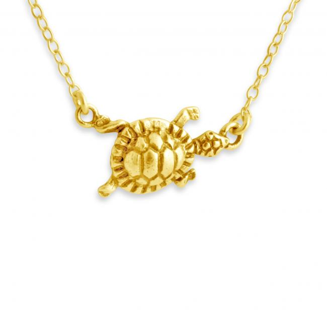 Gold plated necklace Turtle