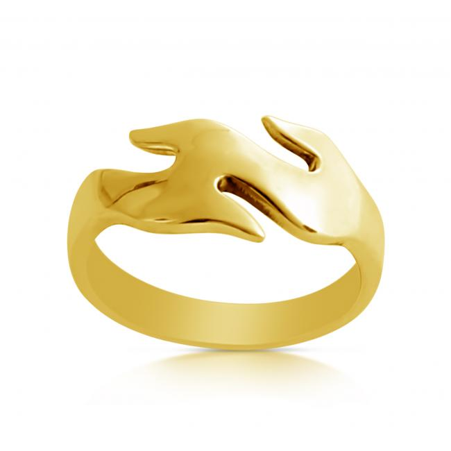 Gold plated ring Wave