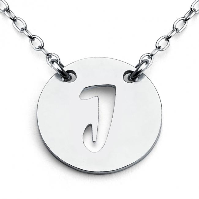 925 sterling silver necklace J Open Letter