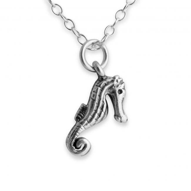 925 sterling silver necklace 3D Cute Seahorse Sea Horse Fish