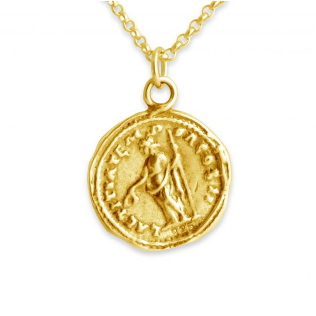 Gold plated necklace Septimius Severus Roman Emperor Replica Ancient Coin