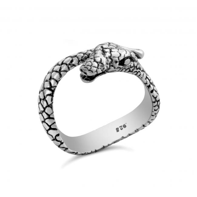 925 sterling silver ring Snake