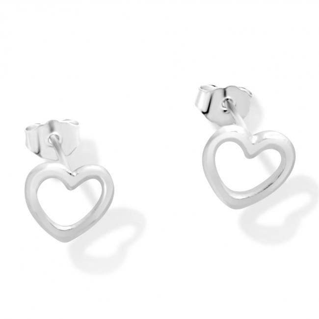 925 sterling silver earrings Heart Outline
