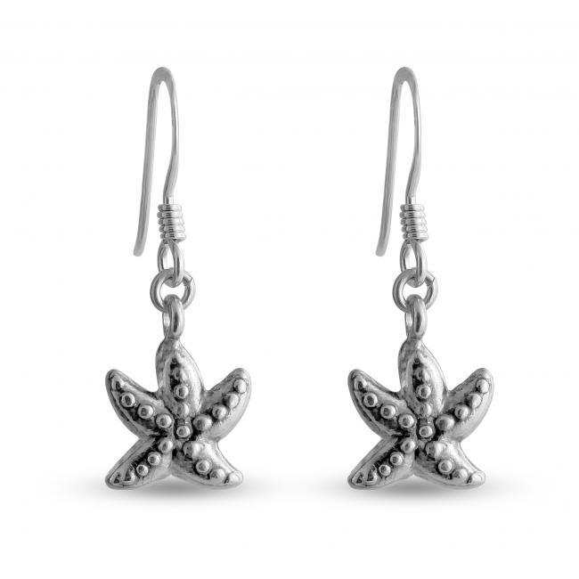 925 sterling silver earrings Rock Starfish