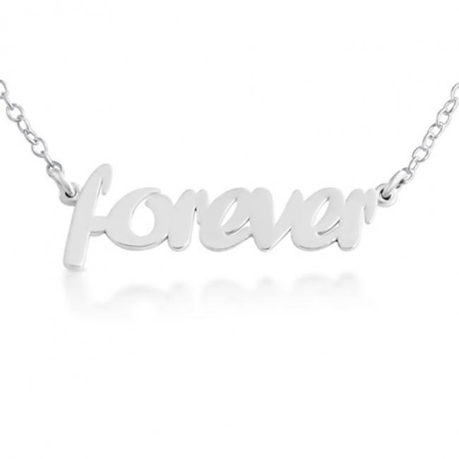 925 sterling silver necklace FOREVER (Script Word)