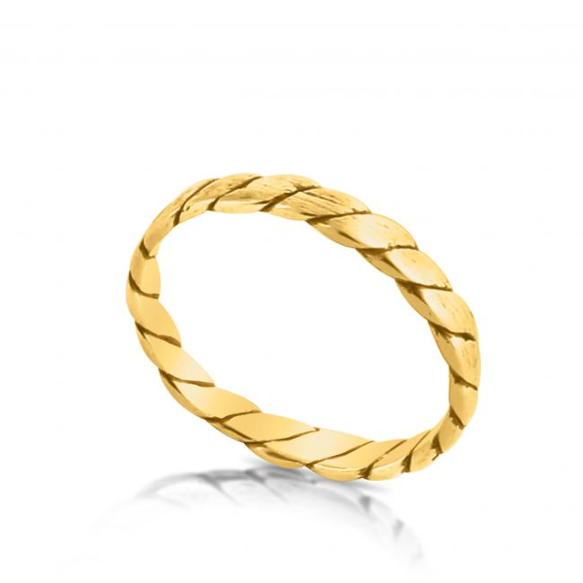 Gold plated ring Rope Ring
