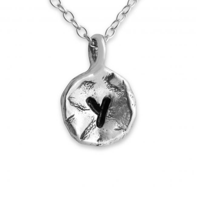 925 sterling silver necklace Letter Y Passion Initial