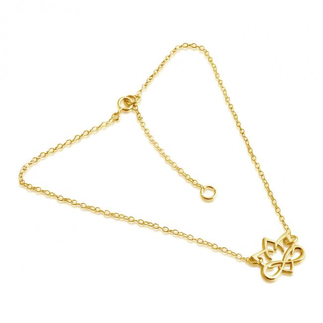 Gold plated anklet Small Lotus Flower