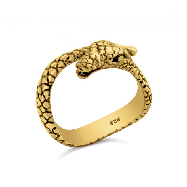 Gold plated ring Snake