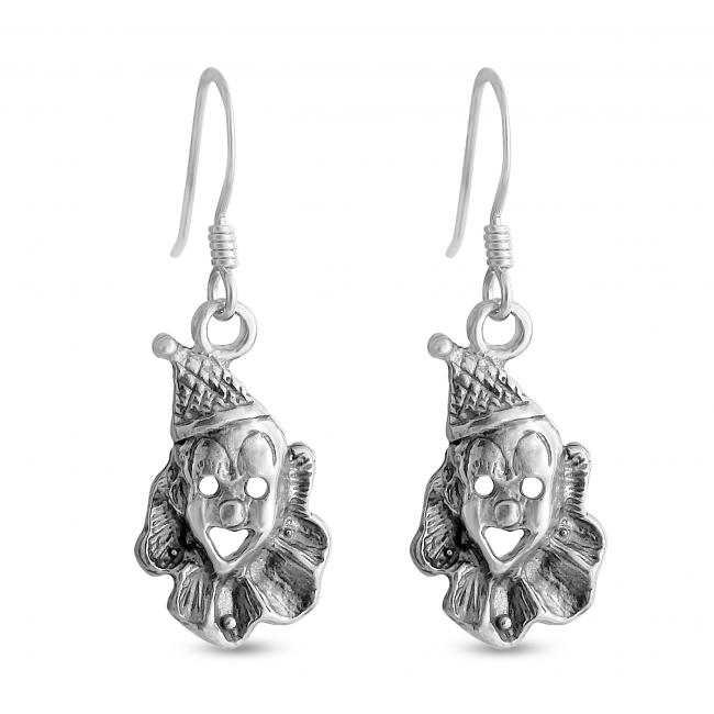 925 sterling silver earrings Clown Face