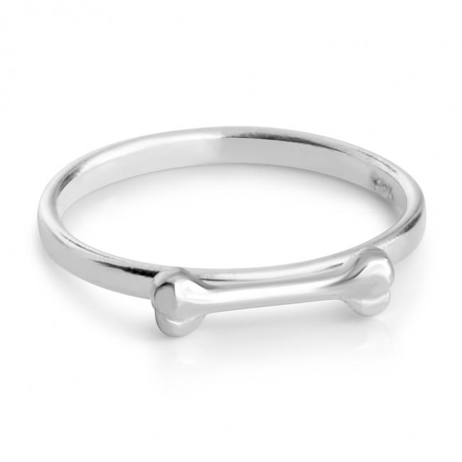 925 sterling silver ring Dog Bone