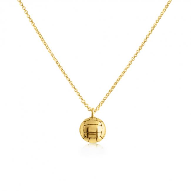 Gold plated necklace Volleyball Team Sport