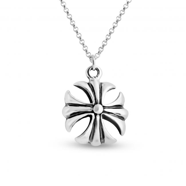 925 sterling silver necklace Solid Crusader Cross