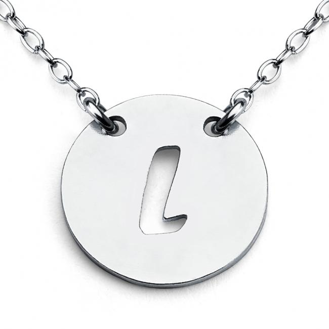 925 sterling silver necklace L Open Letter